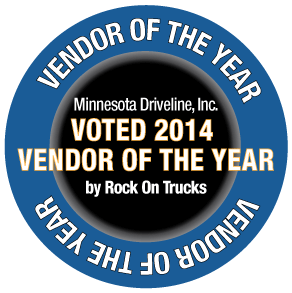 Circular Emblem - Voted 2014 Vendor of the Year by Rock On Trucks